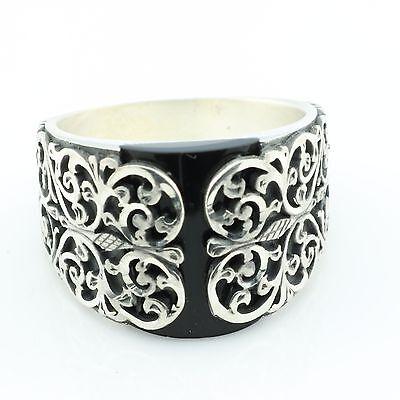 Unique Handmade 925 Silver ONYX Men's Ring US Seller - Best Gift for Him