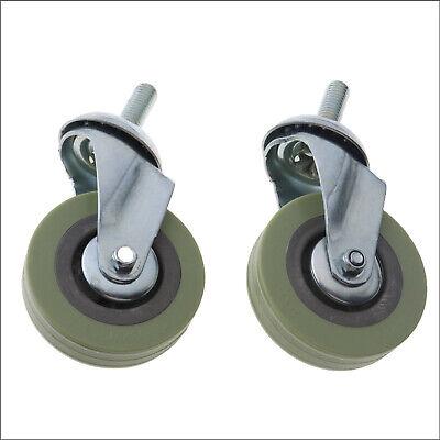 2pcs 75mm 3 Inch Swivel Bolt Hole Castor Wheels Trolley Furniture Casters