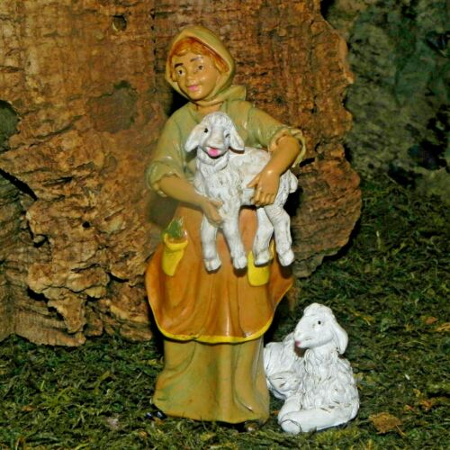 Nativity Scene Shepherd Figurine Euromarchi Presepio Figura para Pesebre Pastora