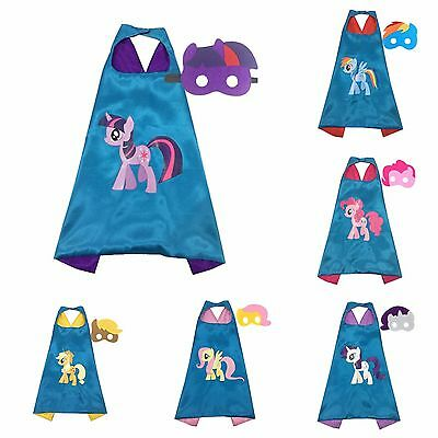 My Little Pony Superhero Kids Cape & Mask Costume Halloween Party Rainbow Dash - My Little Pony Halloween Party