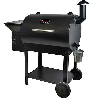 ACTIVA Grill Pelletsmoker XXL Grillwagen Smoker BBQ Barbeque 10 KG Pellets Buche