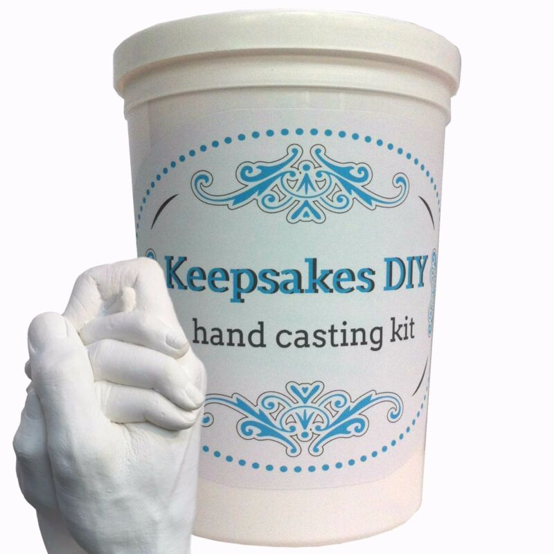 Keepsakes DIY Hands Casting Kit Plaster Wedding Couples Baby Mom Gift NEW