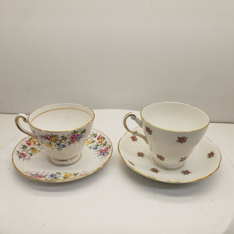 Tea Cups and Saucers Lot of 2