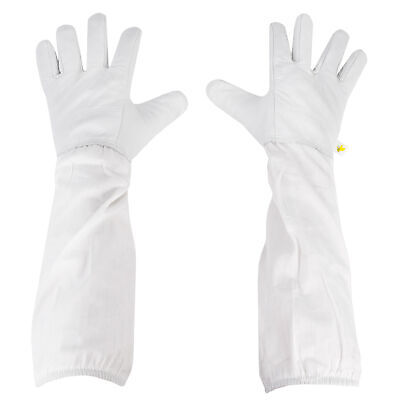 Small Beekeeping Gloves Leather Bee Keeping W Sleeves From Vivo Bee-v103s