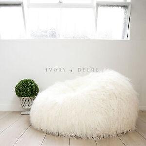 Super Shaggy Fur Bean Bag Cover Soft Cloud Chair Large