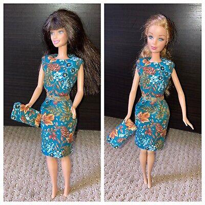 HM Vintage style sleath & clutch purse for Barbie, vintage/retro Barbie or 11.5