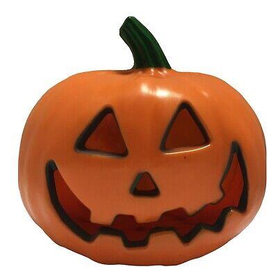 TESTED Jack O Lantern Pumpkin Plastic Blow Mold Light Up Halloween Party Decor