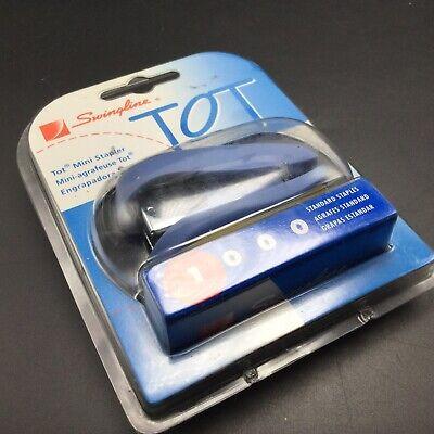 Swingline Tot Mini Office Stapler Blue Includes 1000 Staples