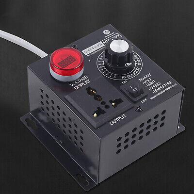 Ac 110v 4000w Adjustable Voltage Regulator Speed Motor Fan Dimmer Controller Usa