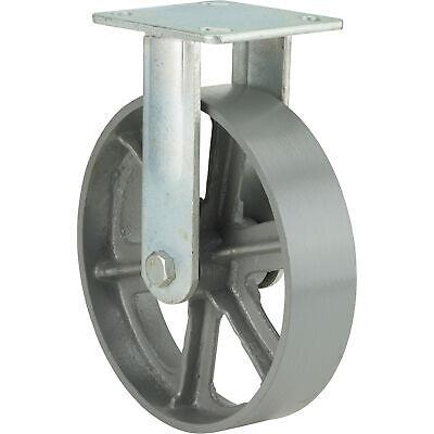 Ironton 8in. Rigid Steel Caster - 1000-lb. Capacity