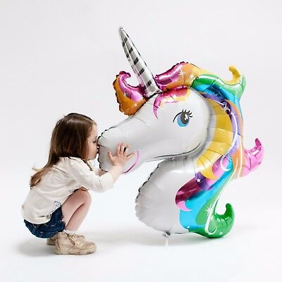 New Colorful Horse Kids Birthday Party Decoration Rainbow Unicorn Head Balloon - Inflatable Unicorn Head