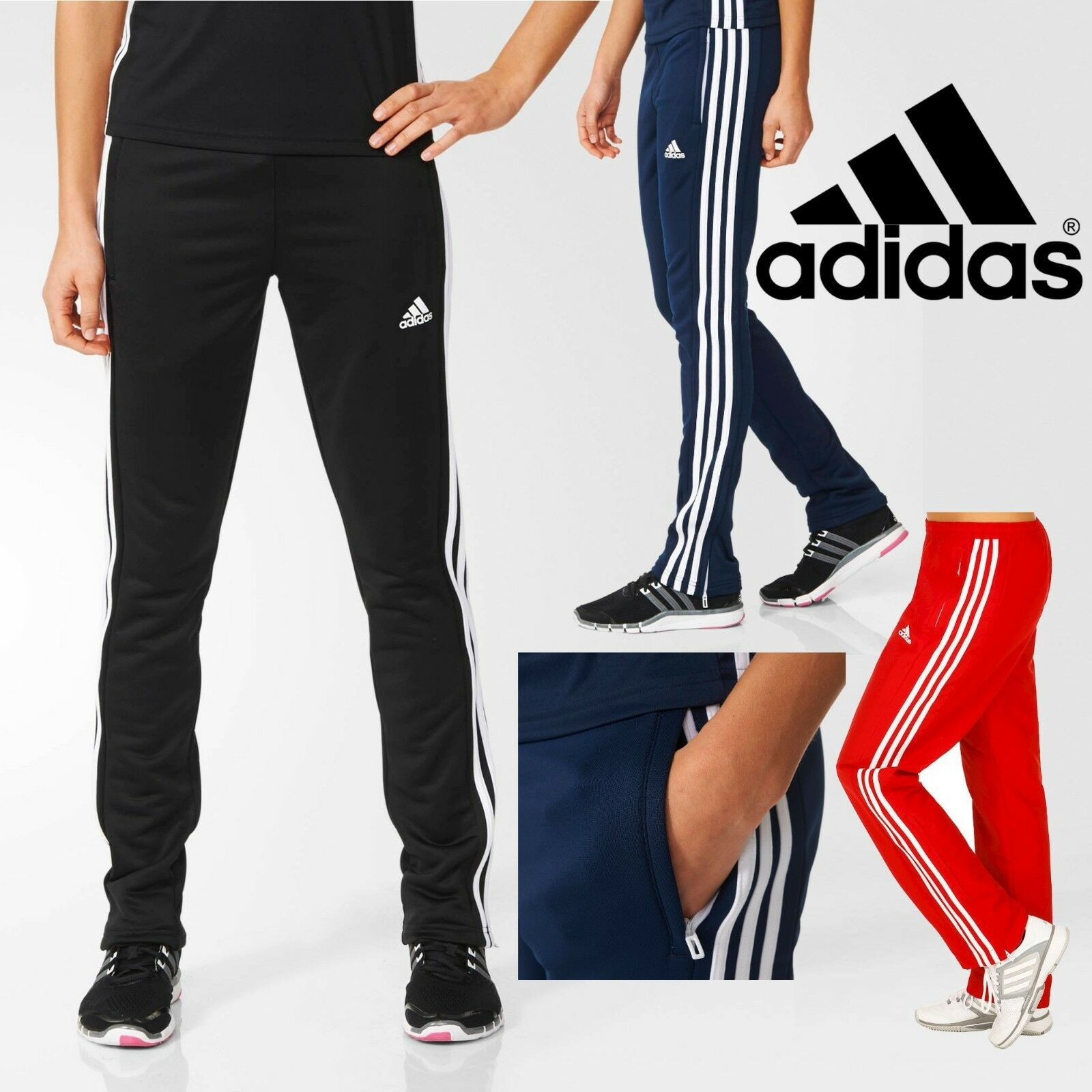 40373a70cbfb Details about adidas T16 CLIMALITE Sweat Pants Women s Sports Running Tracksuit  Bottoms SALE