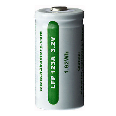K2 Energy  LFP123A Rechargeable 3.2V Battery Replaces CR123A FAST USA SHIP