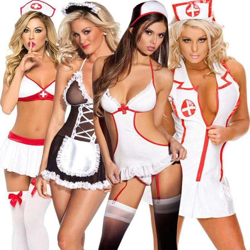 Women Sexy Lingerie Babydoll Bodysuit Underwear Nightwear Pjs Sleepwear Outfit Bodysuits