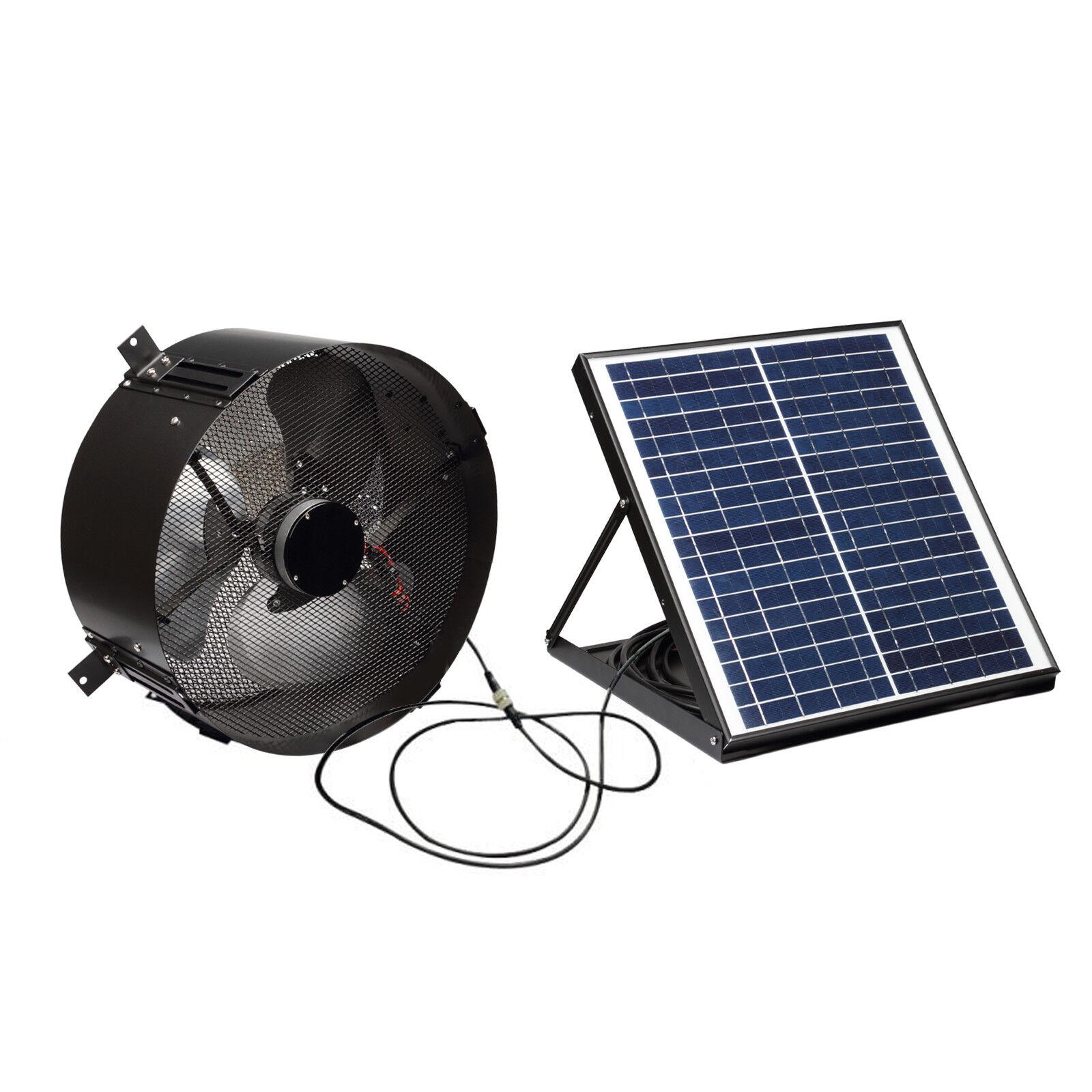 20w solar attic exhaust fan ac power