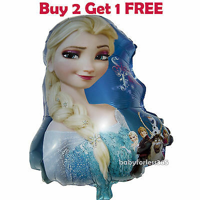 HUGE 2-Sided Disney Frozen Elsa Anna Jumbo Balloon Birthday Party Supplies