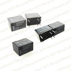 G5v 1 Omron 5 12 24 Vdc Relay 6 Pins Coil Pcb Spco Spdt