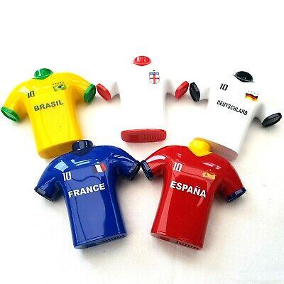 5X Fútbol Camiseta Diseño Sacapuntas Agujero Doble Afeitar Papelera Niños Toys