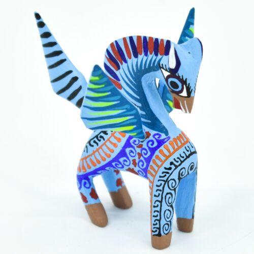 Handmade Alebrijes Oaxacan Wood Carved Folk Art Pegasus Flying Horse Figurine