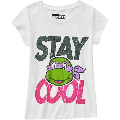 Nickelodean Girls Teenage Mutant Ninja Turtle Stay Cool T-Shirt Size M L XL NWT
