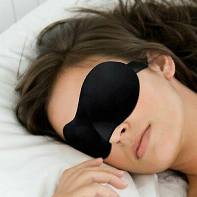 3D Soft Padded Travel Shade Cover Rest Relax Sleeping Blindfold Eye Mask Health & Beauty