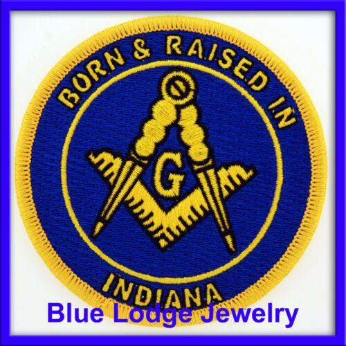 Master Mason Born & Raised in Indiana Masonic Patch