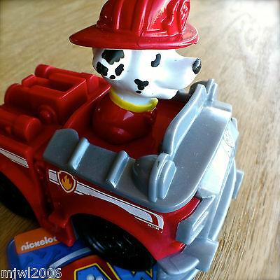 Nickelodeon PAW PATROL RACERS MARSHALL Plastic Vehicle Rolls Fire Engine MARCUS