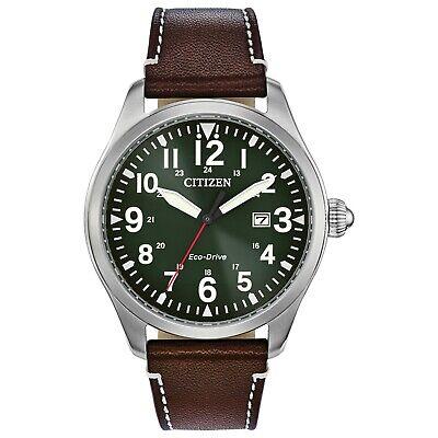 Citizen Eco-Drive Garrison Military Men's Date Indicator 42mm Watch BM6838-09X