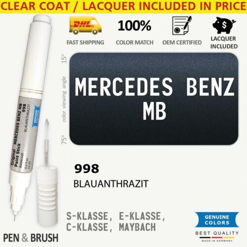 998 Touch Up Paint for Mercedes Benz MB Blue S KLASSE E C MAYBACH 5998 BLAUANTHR