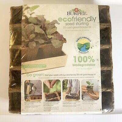 Burpee 25 Cell Greenhouse Seed Starting Kit Biodegradable