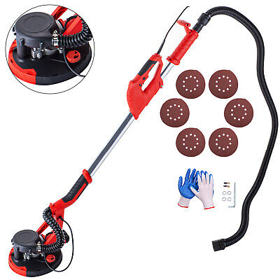 Drywall Sander 750w Wall Grinding Extendable W Vacuum System 6 Sanding Discs