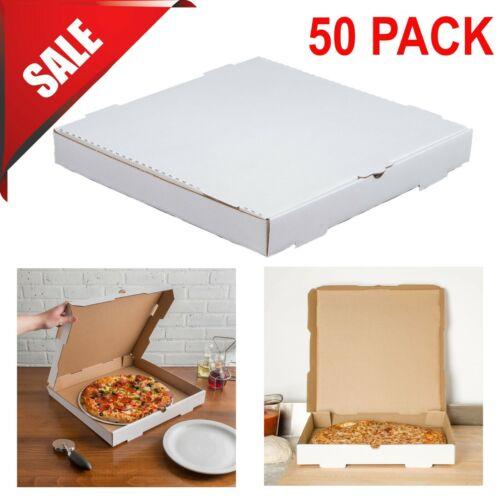 "16"" x 16"" x 2"" White Corrugated Plain Pizza / Bakery Box Square Durable 50-Pack"