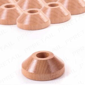 10 x SOLID OAK PIPE ROSE END Radiator To Floor Cover Ring Wooden Surround Collar