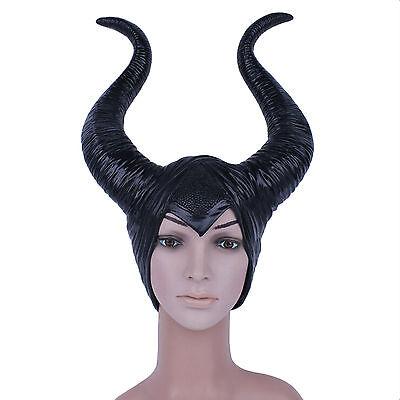 USA Stock Maleficent Horn Hat Women Halloween Cosplay Prop Helmet Accessory - Maleficent Horn