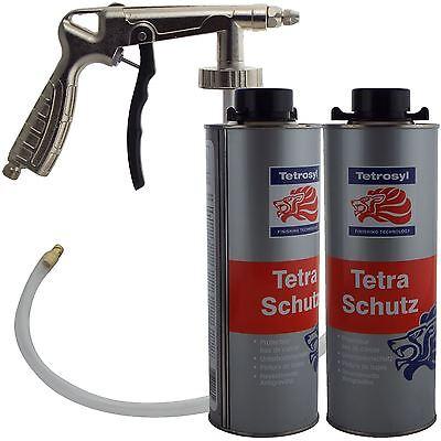 Tetrosyl Tetraschutz Shutz Body Rust Protector Underseal Spray 2 x 1ltr + Gun