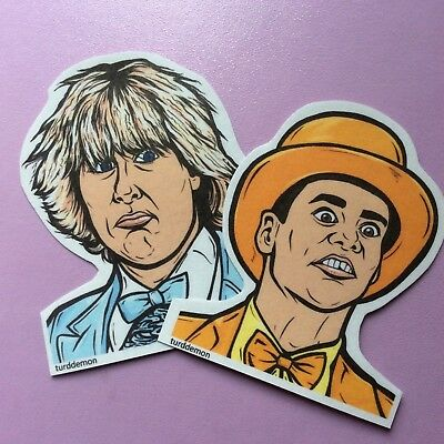 Lloyd And Harry Tuxedos (Dumb and Dumber Sticker Pack Pop Art Turddemon movie Pastel Tuxedos Harry)