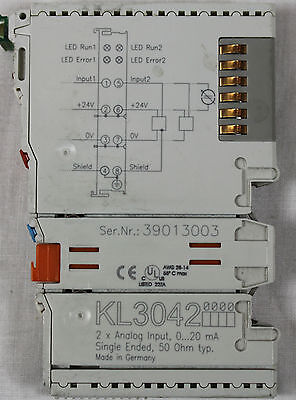 Beckhoff Kl3042 2 Point Analog Input Single Ended 0-20 Mamps Xlnt
