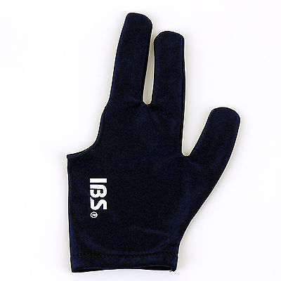 5ps [IBS] Billiard Three Fingers Glove Fits Both Men Women Navy Spandex Snooker