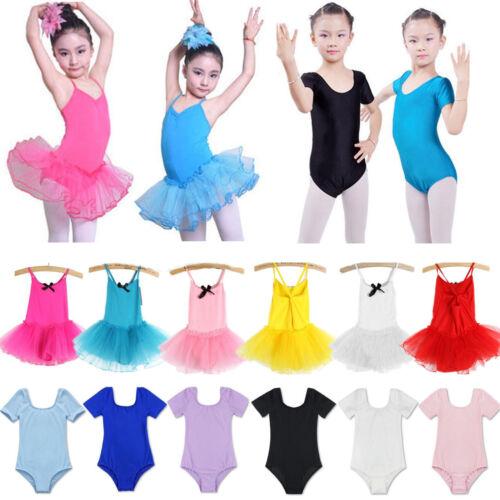 Kinder Mädchen Ballettkleid Ballettanzug Turnanzug Ballett Trikots Tütü Kleid 98