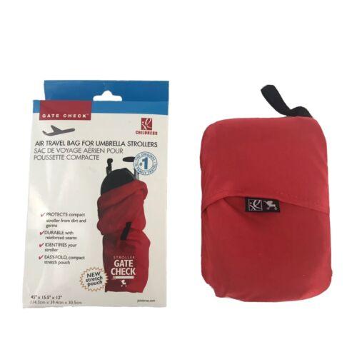 Bag for Umbrella Strollers Drawstring Adjustable Lock Red by