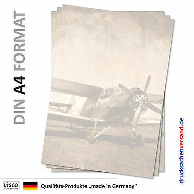 Motivpapier Briefpapier (Flugzeug-5089 DIN A4 100 Blatt) Doppeldecker Antonov