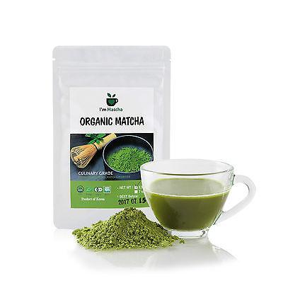 Organic Green Tea Matcha Powder 200g(7oz)_Culinary Grade_USDA, EU Certified