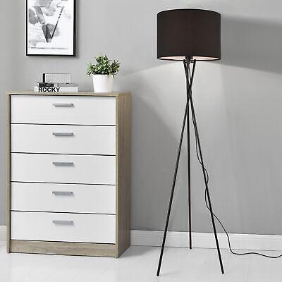 [lux.pro] Stehleuchte 154cm Stehlampe Standleuchte Stand Lampe Metall Schwarz