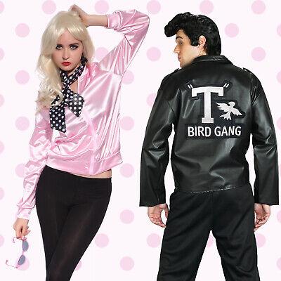 Erwachsene Mottoparty Outfit Pink Ladies Danny Jacket Fancy Dress Kostüm