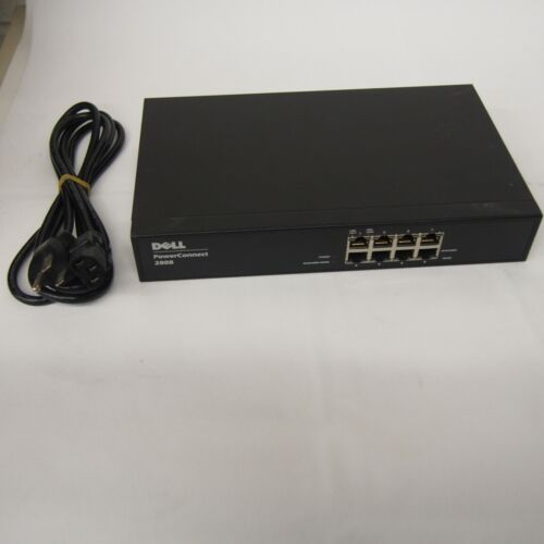 Dell Power Connect 2808 8 Ports Rack Mountable Switch READ