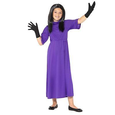 Kinder Mädchen Offiziell Roald Dahl der Hexen Kostüm Buchwoche Tag Kostüm (Roald Dahl Halloween Kostüme)