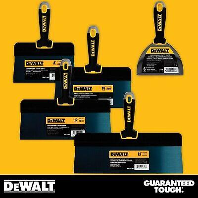 Dewalt Taping Knife Set Big Back Blue Steel 8-10-12-14 W Bonus 6 Joint Knife