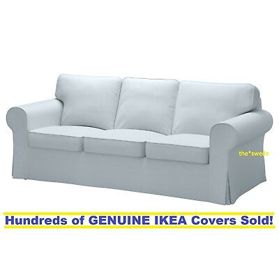 Ikea Ektorp Three  3  Seat Sofa Slipcover Cover Nordvalla Light Blue New  Sealed