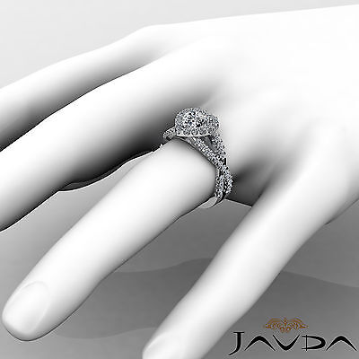 Cross Shank Halo Heart Cut Diamond Engagement Shared Prong Ring GIA I SI1 1.9Ct 3