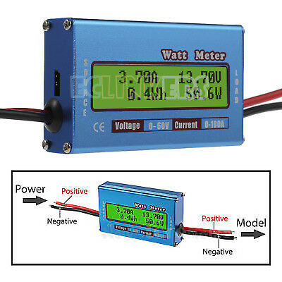 Digital Lcd Battery 60v100a Watt Meter Voltage Amp Monitor Rc Dc Power Analyzer